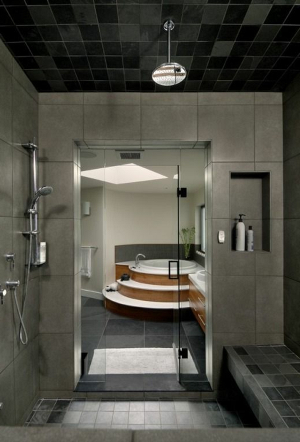 salle-de-bains-grise-baignoire-originale