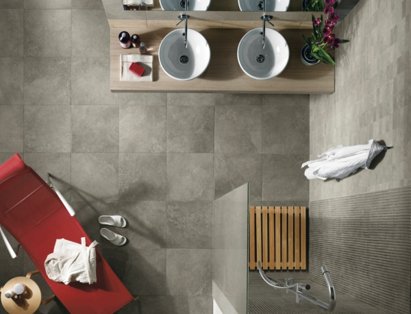 salle-de-bains-grise-deux-vasques-rondes-et-compoir-en-bois-clair
