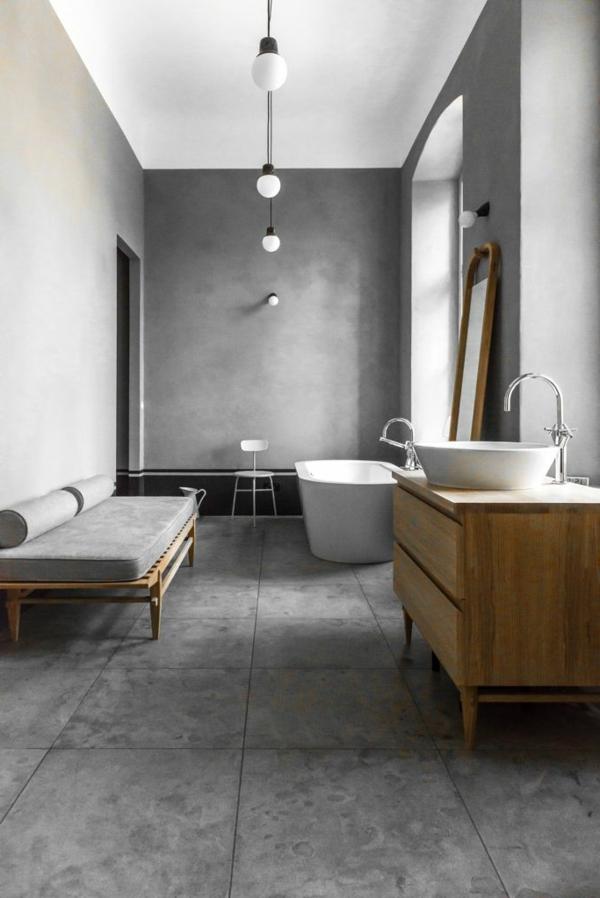 une salle de bains grise - élégance et chic contemporain - archzine.fr - Salle De Bain Contemporaine Grise