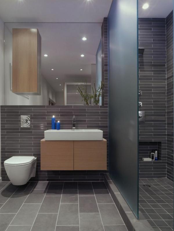 Une salle de bains grise l gance et chic contemporain for Salle de bain minimaliste