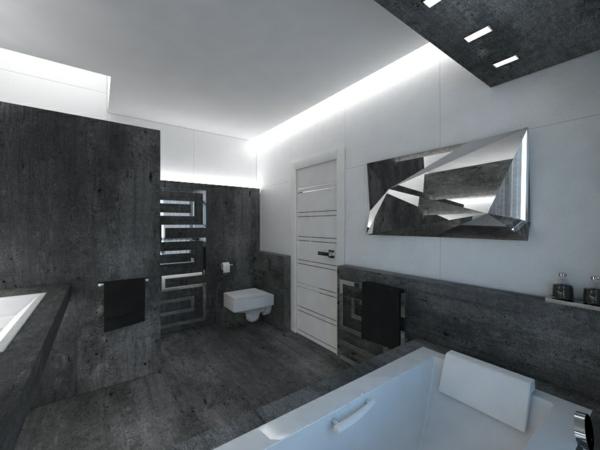 salle-de-bains-grise-ultramoderne-baignoire-rectangulaire