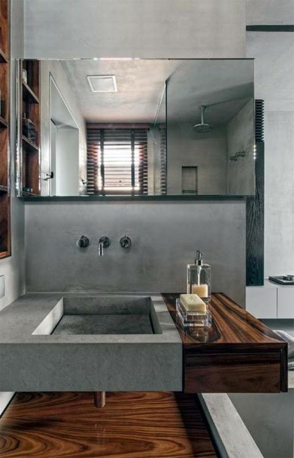 salle-de-bains-grise-une-grande-vasque-originale-et-miroir-mural