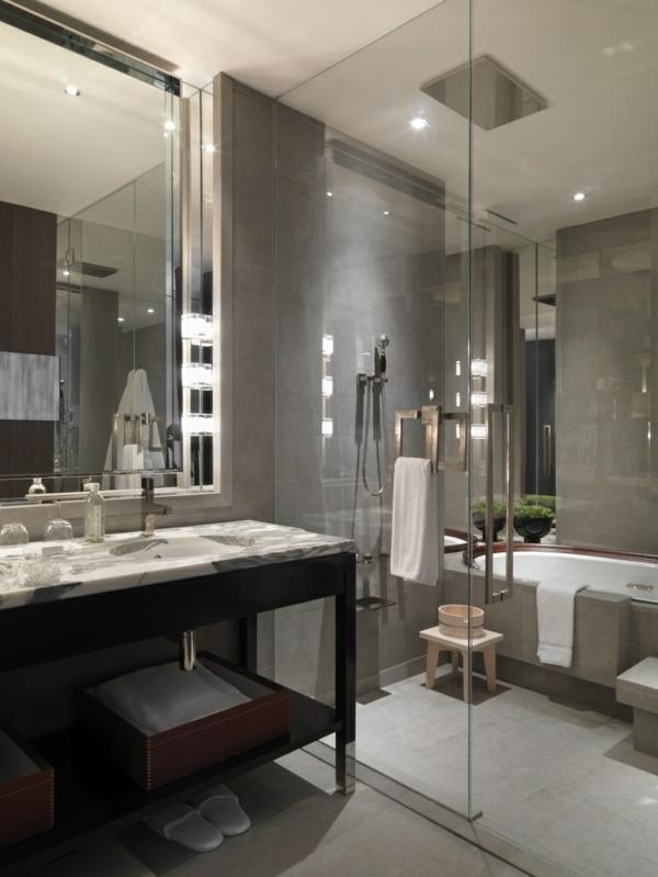 Une salle de bains grise l gance et chic contemporain - Salle de bain image ...