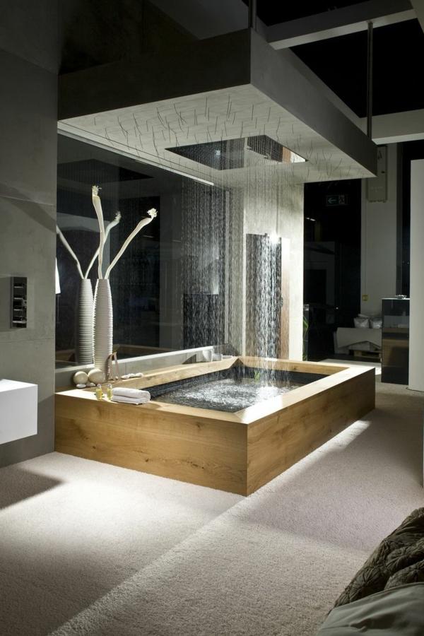 Salle De Bain Luxueuse D Hotel : Une salle de bains grise élégance et chic contemporain
