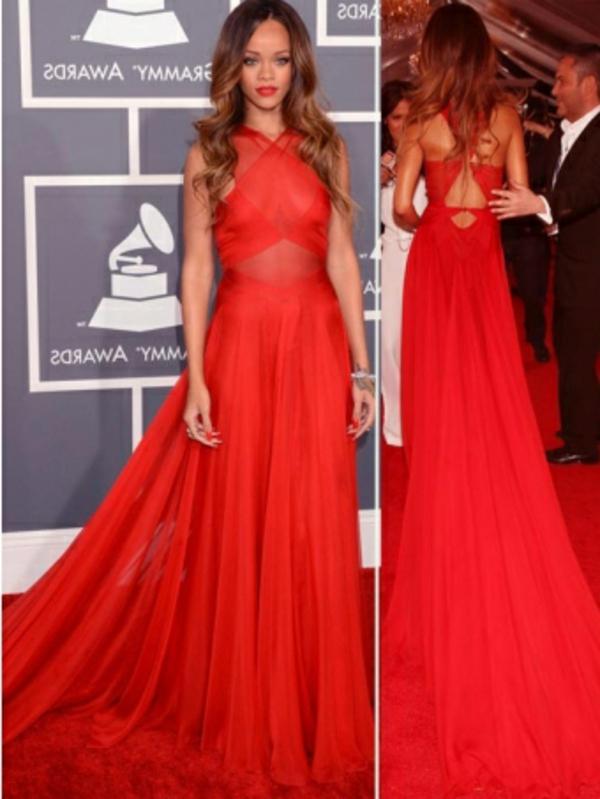 soirée-spéciale-rihanna-robe-rouge-long