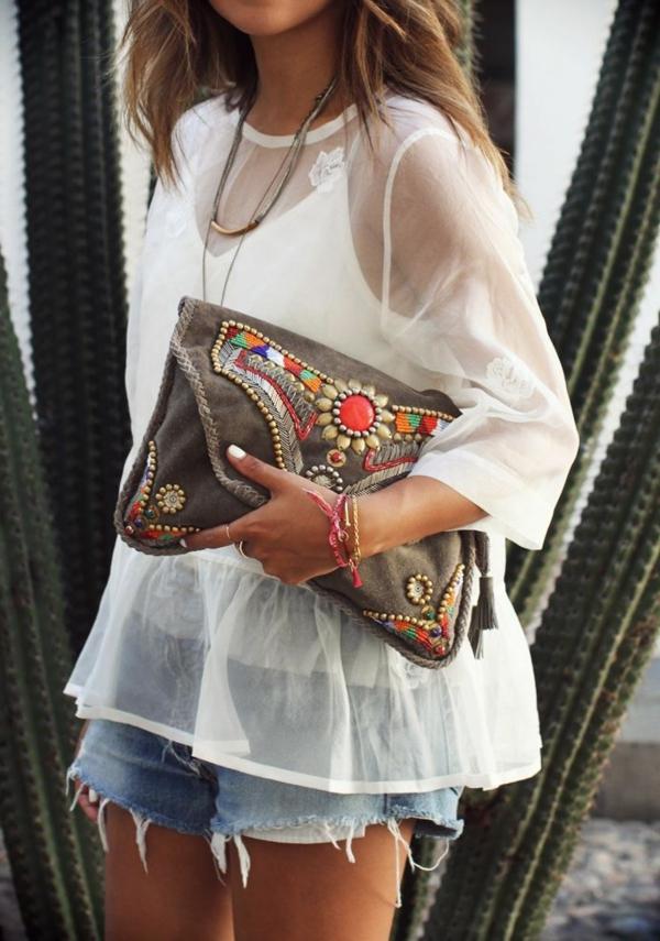 style-bohème-chic-pantalons-courtes-blouse-flottant
