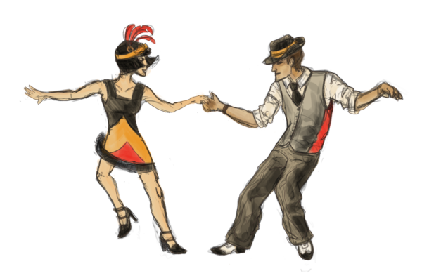 swing-danser-art-les-années-vinght-vintage-fringues