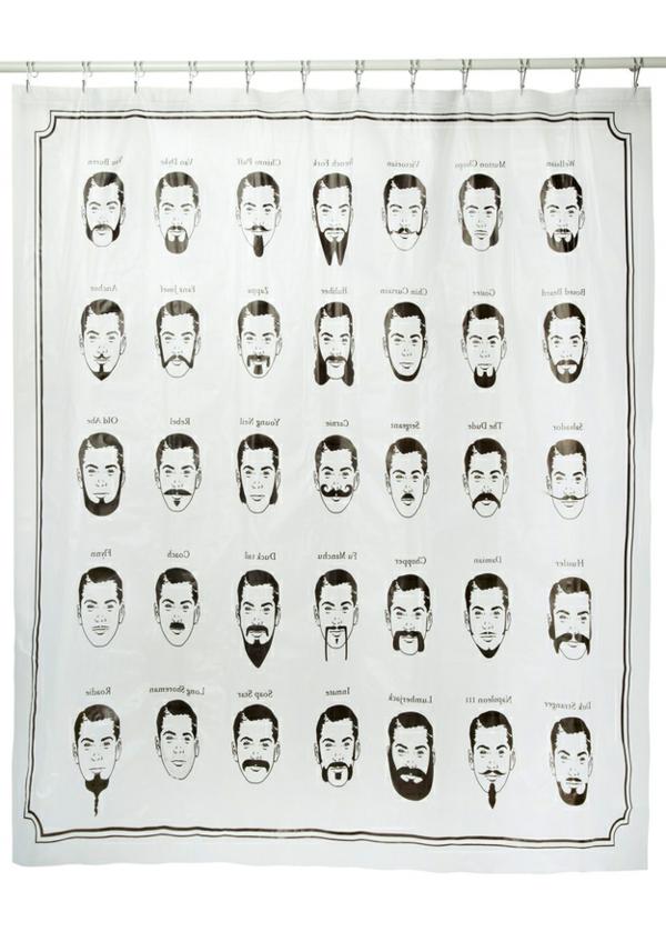 tête-avec-moustaches-comment-décorer-la-bain-rideaux-douche