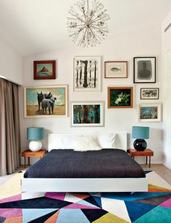 tapis-multicolore-chambre-à-coucher