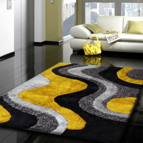 Tapis salon nour et gris for Tapis salon blanc et gris