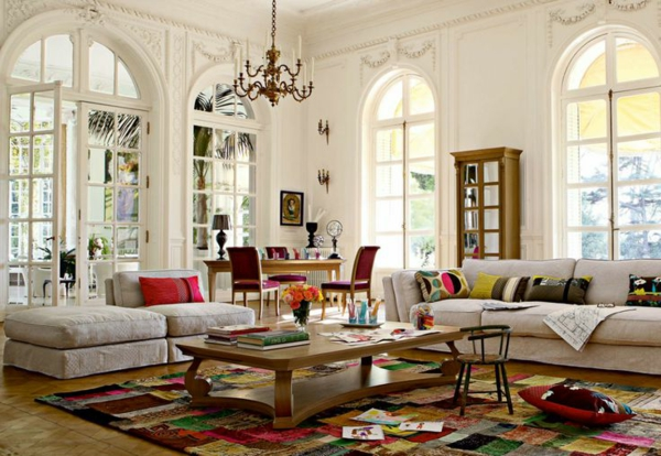 tapis-multicolore-espaces-boho-modernes