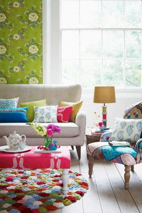 tapis-multicolore-et-chambre-vintage