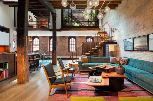 tapis-multicolore-et-un-joli-loft-contemporain