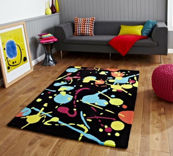 tapis-multicolore-original-décoration-pour-les-petits-espaces