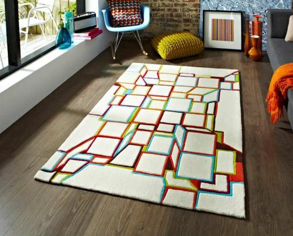 Le tapis multicolore apportez des touches de joie dans l 39 int rieur Beaux tapis contemporains