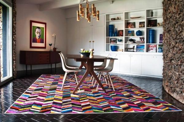 tapis-multicolore-salle-de-déjeuner-unique