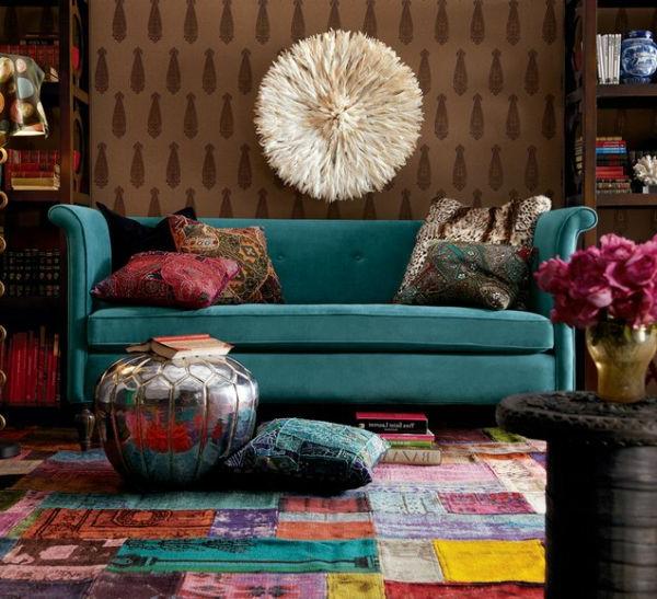 tapis-multicolore-salle-de-séjour-orginale