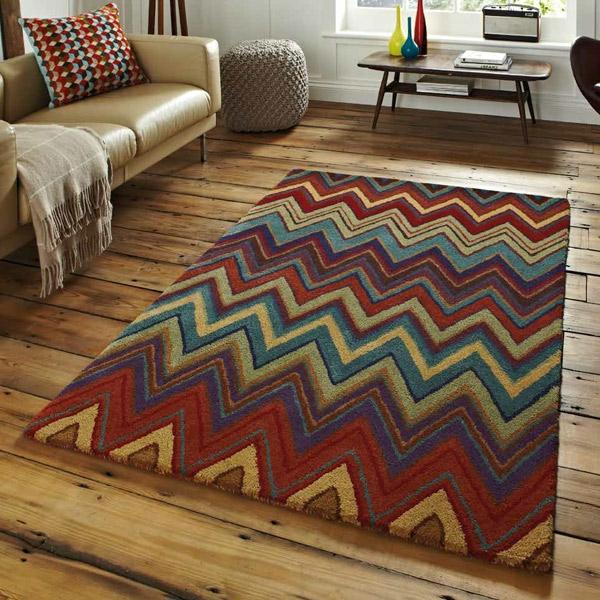 tapis-multicolore-un-beau-tapis-géométrique