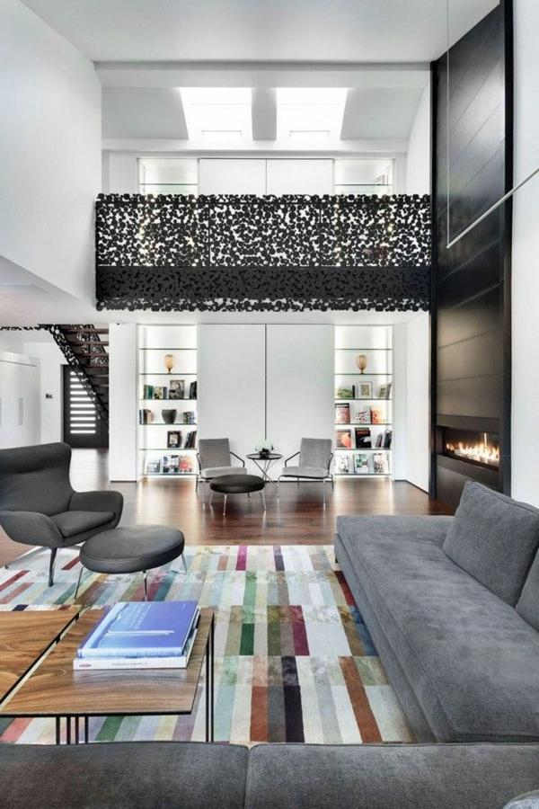 tapis-multicolore-un-loft-moderne-tapis-patchwork