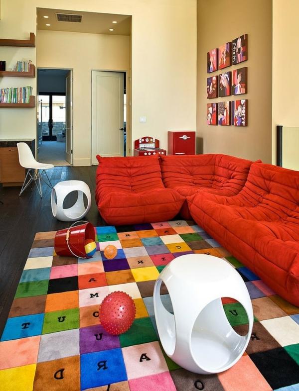 tapis-multicolore-une-chambre-originale-et-amusante