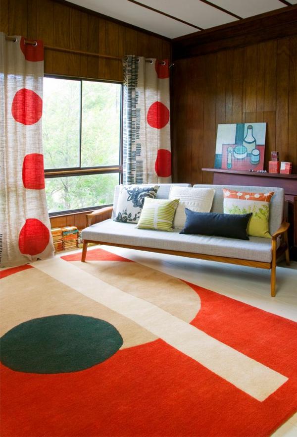 tapis-multicolore-une-chambre-vintage-colorée