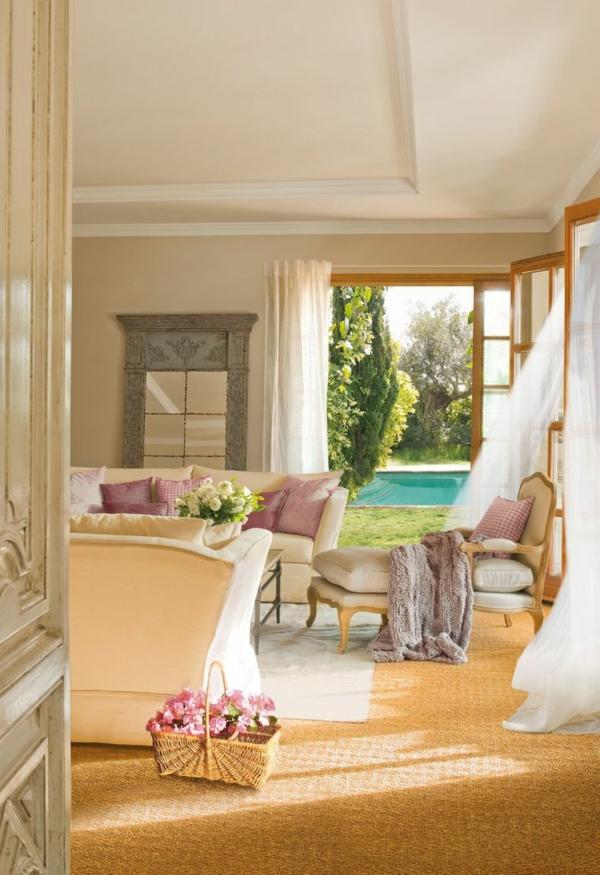 tapis-sisal-intérieur-merveilleux-et-mobilier-vintage