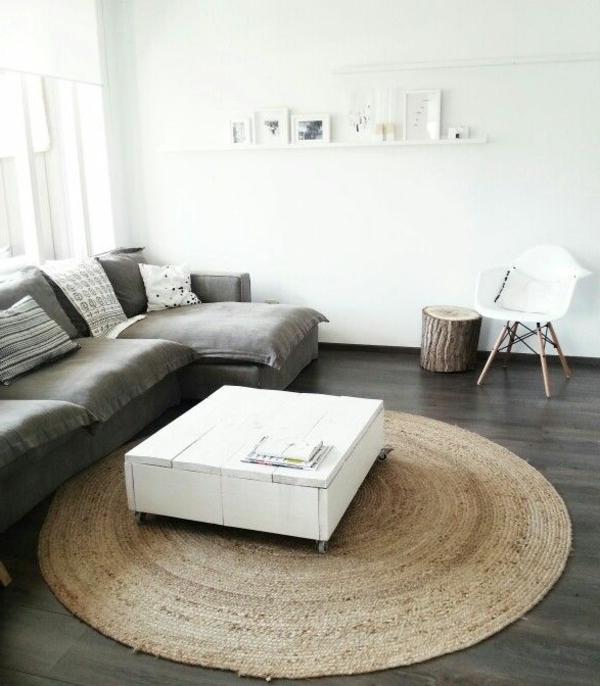 tapis-sisal-rond-une-table-diy-en-bois-blanc
