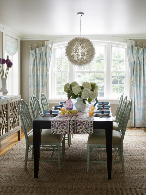 tapis-sisal-salle-de-déjeuner-superbe-en-style-vintage