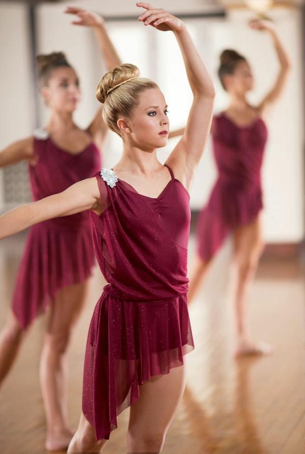 tenue-de-danse-moderne-jupes-asymétriques