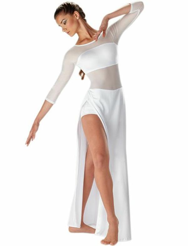 tenue-de-danse-moderne-outfit-élégant-en-blanc