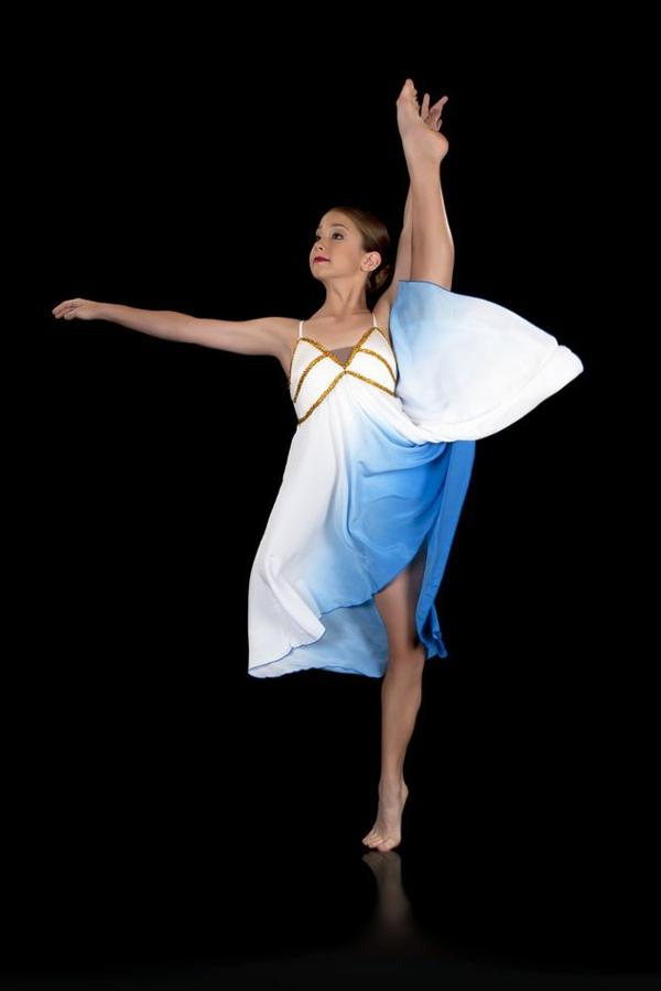 tenue-de-danse-moderne-robe-mi-longue-féérique