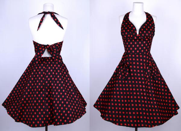 tenue-de-soirée-swing-polka-dot-vintage-rockabilly