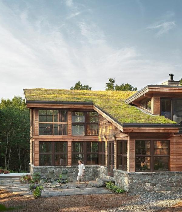 toit-végétal-chalet-avec-toiture-végétalisée