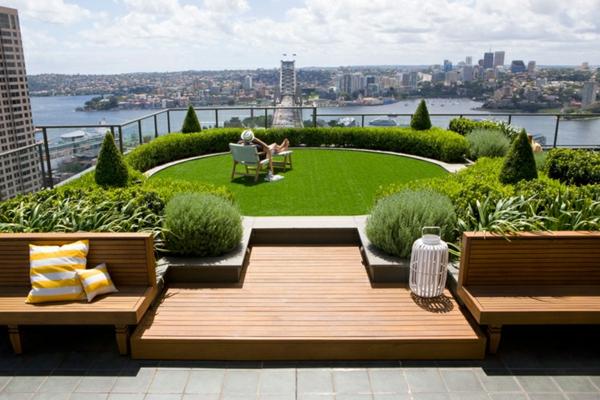 Le toit v g tal en 77 photos - Jardin sur les toits ...