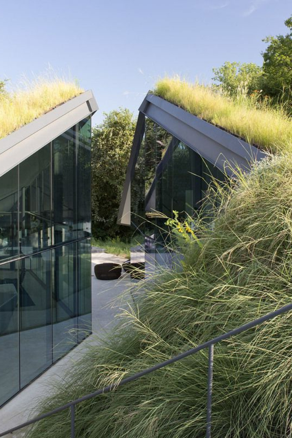 Le toit v g tal en 77 photos for Maison toit en verre