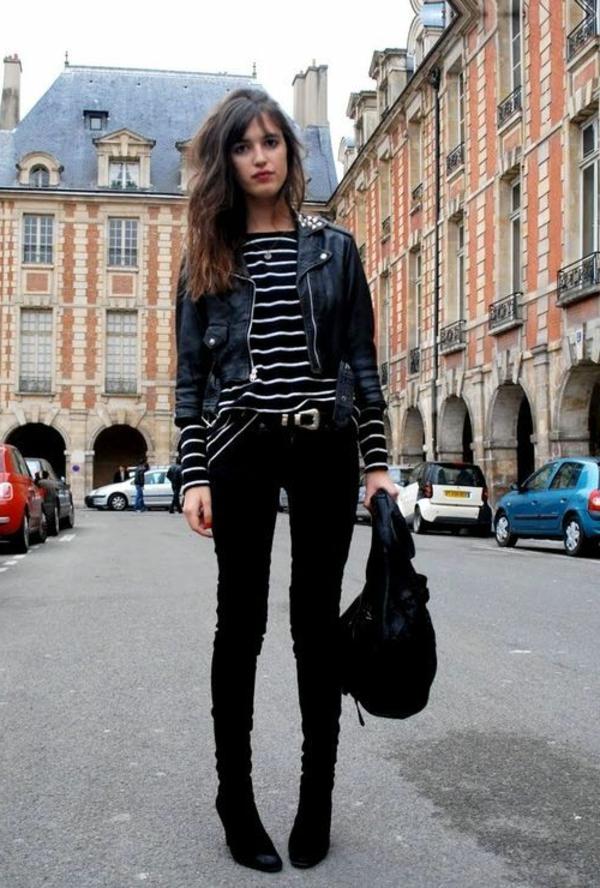 vêtements,modernes,noir,rock