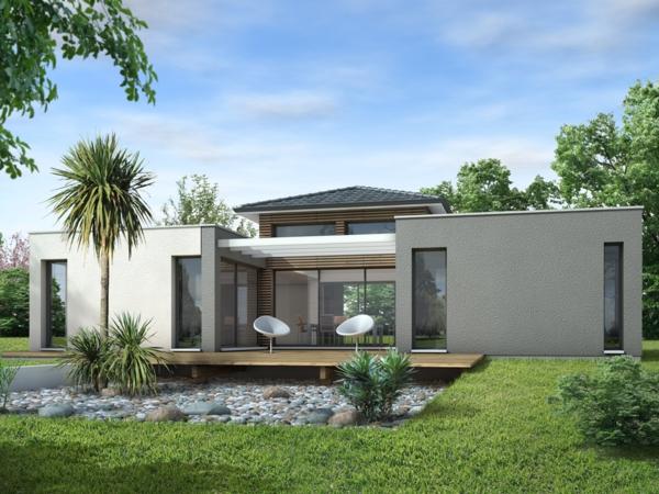 La maison plain pied moderne for Maison plain pied contemporaine