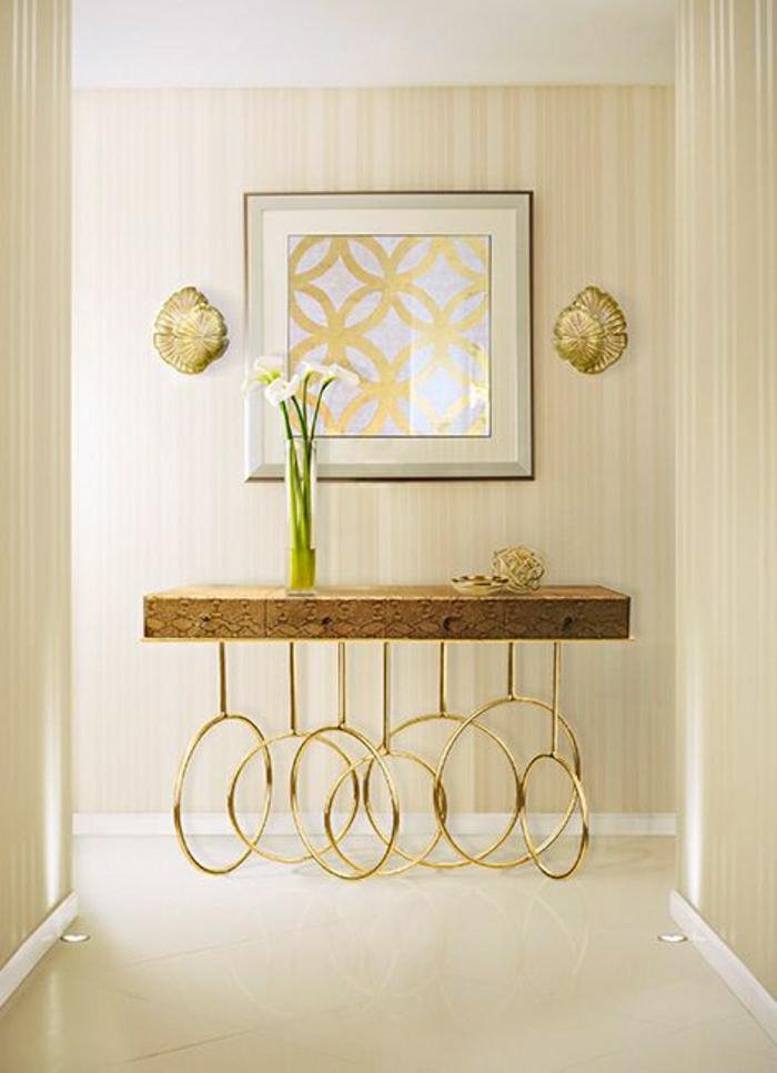 étagère-insolite-en-bois-meuble-d-entrée-d-appoint-couloir-de-couleur-beige