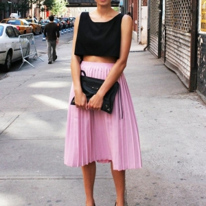 La jupe mi-longue , une tendance de l'été 2015!