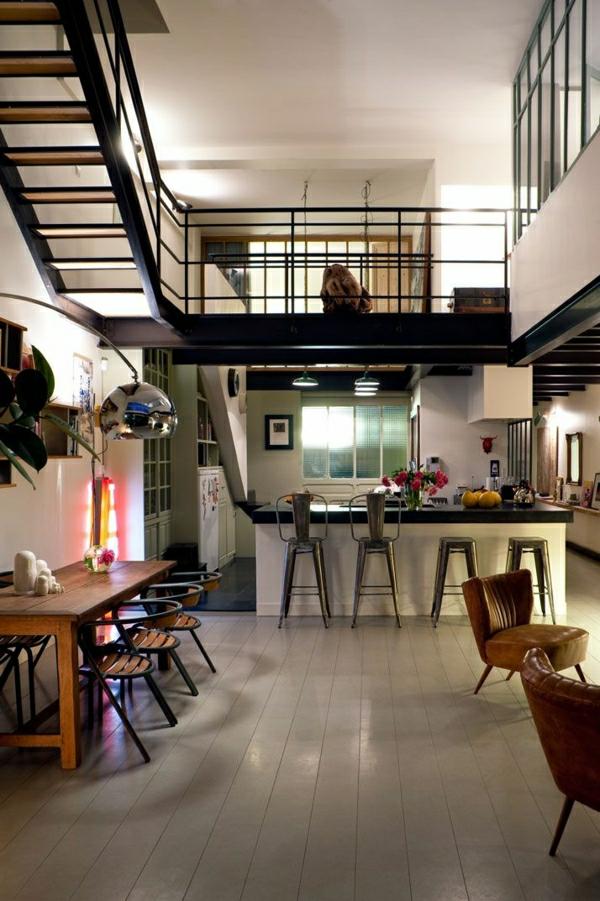 1-aménagement-meubles-industriels-cuisine-salle-de-séjour-fleurs-espace-vaste
