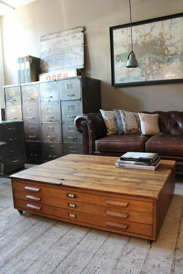 1-aménagement-meubles-industriels-en-fer-canapé-en-cuir-marron