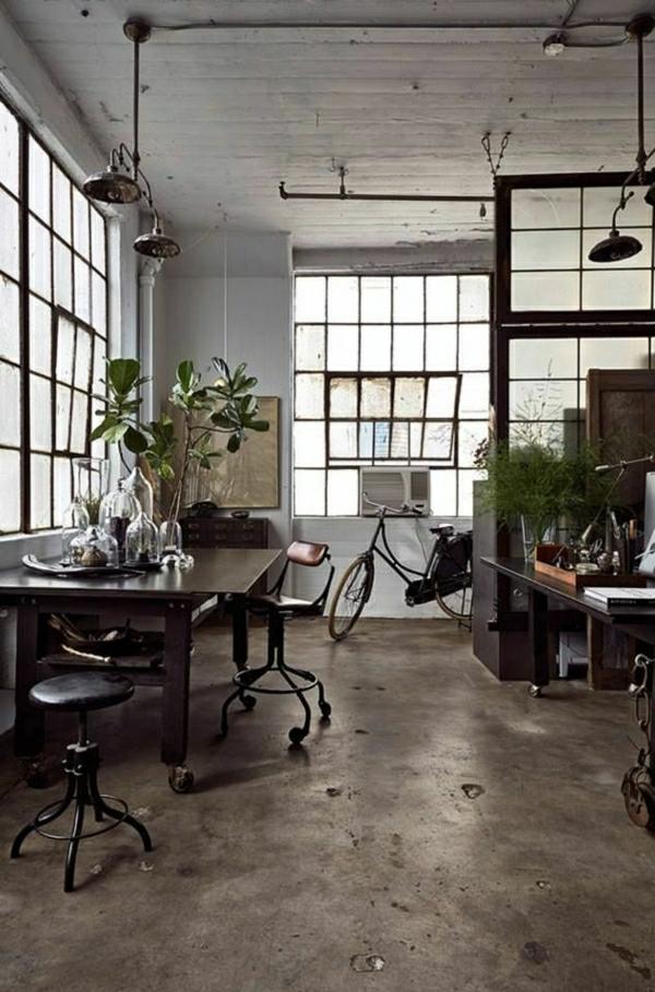 1-aménagement-meubles-industriels-table-en-bois-intérieur-industriel-plantes-vertes
