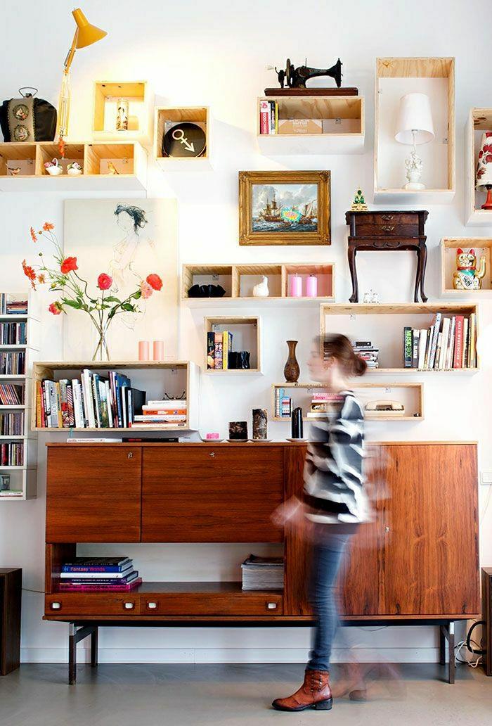 le cube de rangement les variantes pour une tag re. Black Bedroom Furniture Sets. Home Design Ideas