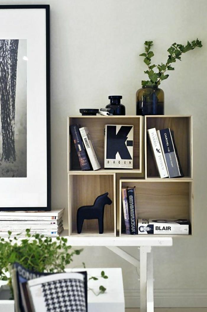 1-boites-de-rangement-en-bois-en-forme-de-cube-livres--peinture-plante-verte