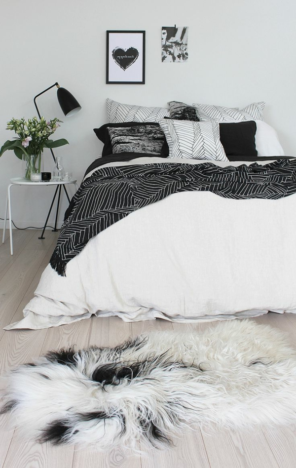 Comment choisir la plus belle lampe de chevet for Chambre a coucher noir et blanc