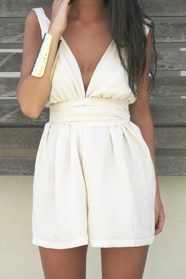 1-combishort-blanc-femme-élégante-bijou-en-or-bracelet-mode-ete-2015