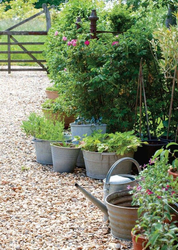 1-gravier-pour-allée-jardin-plantes-vertes
