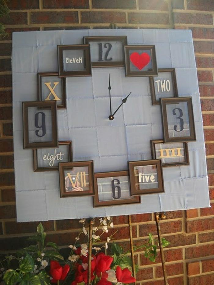 1-horloge-murale-décorative-pendule-murale-de-style-moderne-rouge-gris