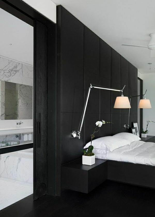 1-lampe-de-lecture-chambre-a-coucher-fleurs-lit-linge-de-lit-blanc