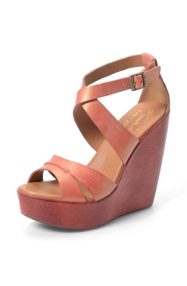 30285a06259 Sandale compensee cuir marron - Chaussure - lescahiersdalter